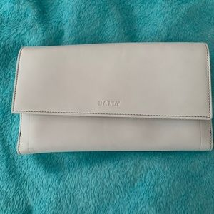 Brand New Bally White Leather Wallet